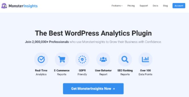 MonsterInsights is the best WordPress Google Analytics plugin.