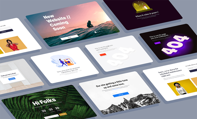 New landing page templates for SeedProd page builder