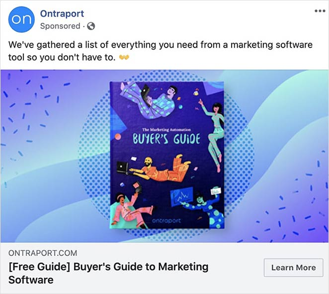 Ontraport facebook ad