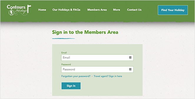You can use a website to offer a members only area