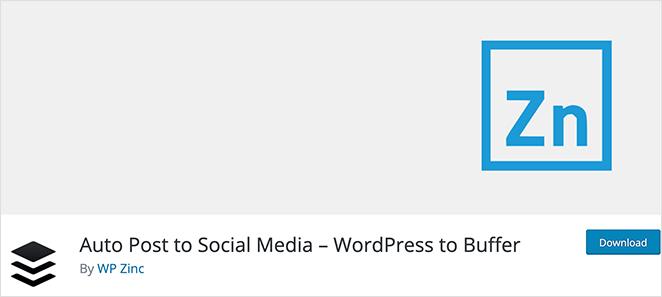 WordPress to Buffer social media auto post plugin