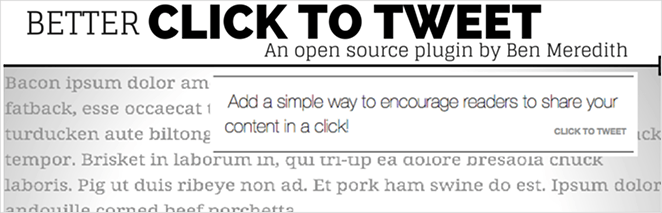 Better Click to Tweet WordPress Twitter plugin