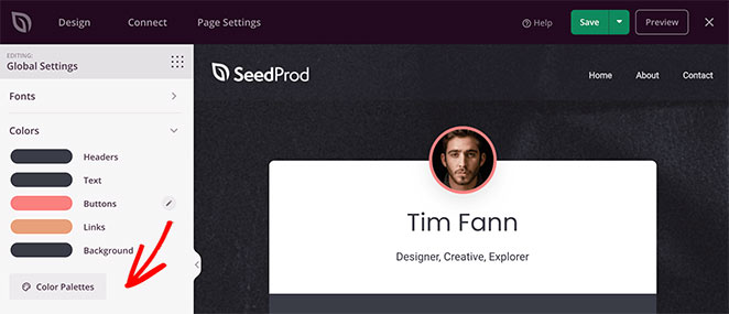 SeedProd global color settings
