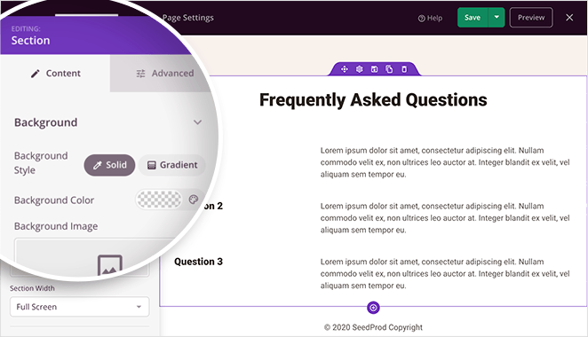 Add a faq section to your event landing page