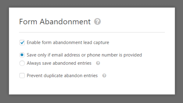 form abandonment addon tool in wpforms review