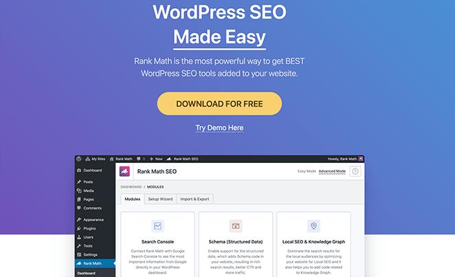 Rank Math top WordPress SEO plugin