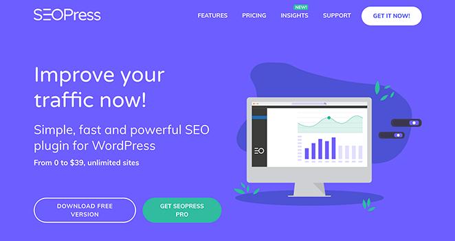 SEOPress popular WordPress SEO plugin