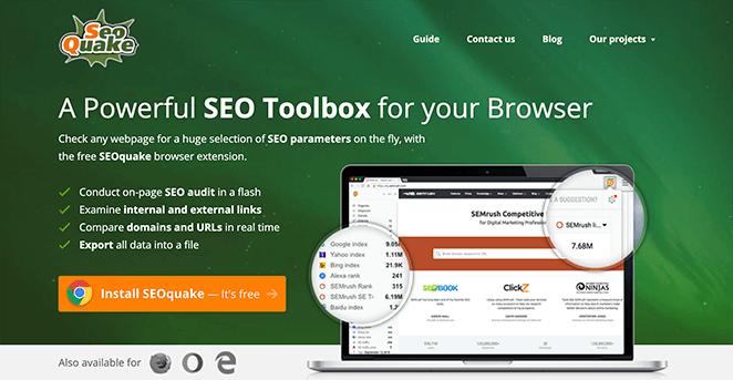 SEOquake WordPress SEO plugin