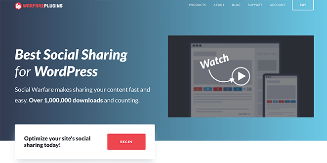 Social Warfare social media plugin for WordPress
