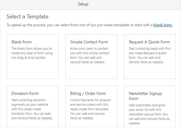 wpforms form templates review