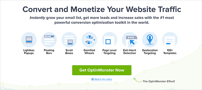 OptinMonster call to action example