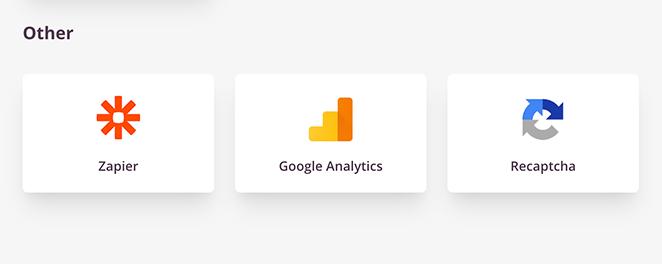 Zapier, google analytics, and recaptcha integration