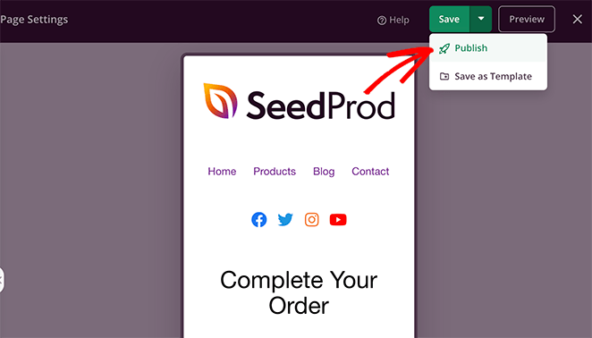 Publish your custom woocommerce checkout page