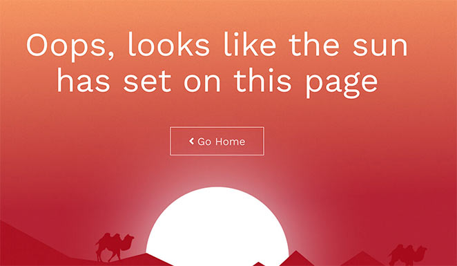 Sunset 404 page example
