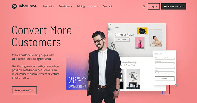 Unbounce page builder