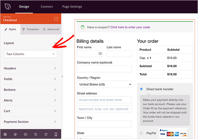 customize your woocommerce checkout style