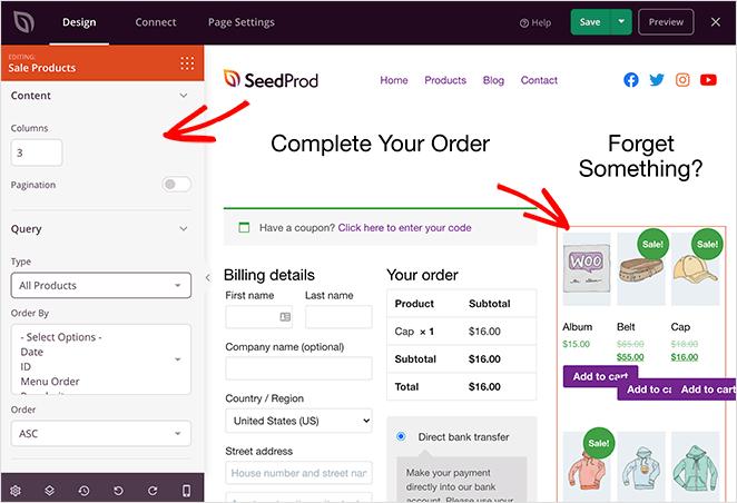 WooCommerce product grid settings