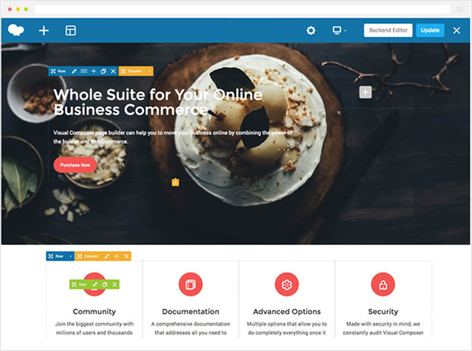 WPBakery visual composer features
