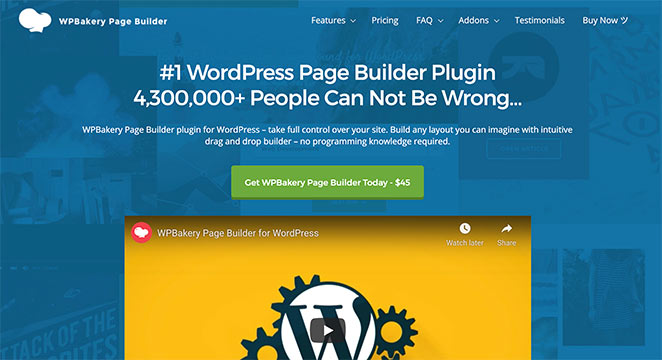 WPBakery visual page builder