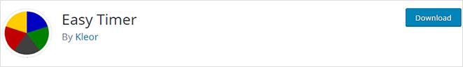 Easy Timer WordPress countdown timer plugin