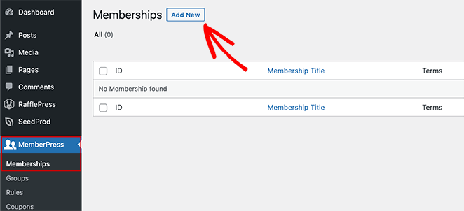Add new membership levels to your membership site.