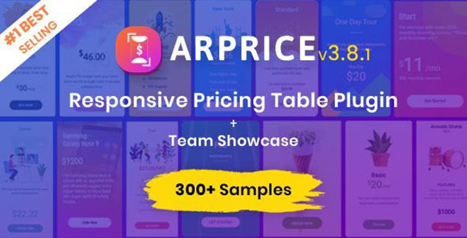ARPrice pricing table plugin for WordPress