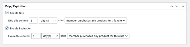 Enable the option to drip members only content an set a times for the content to expire.