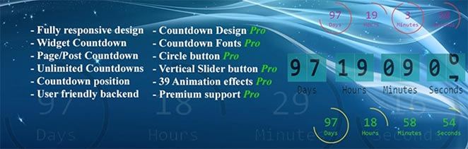 Free WordPress countdown timer plugin