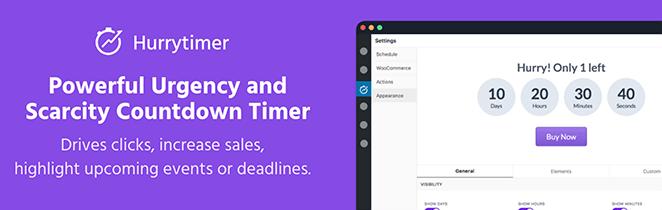HurryTimer WordPress countdown timer plugin