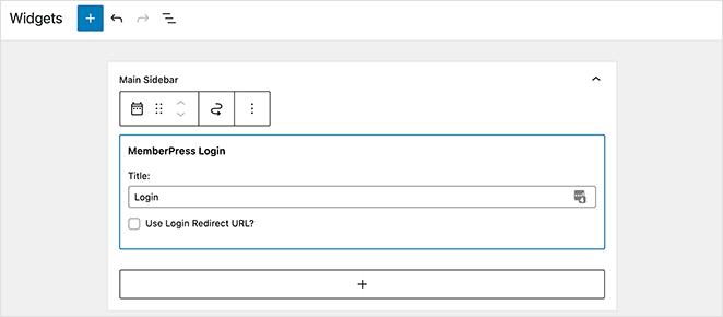 Add the memberpress login widget to WordPress