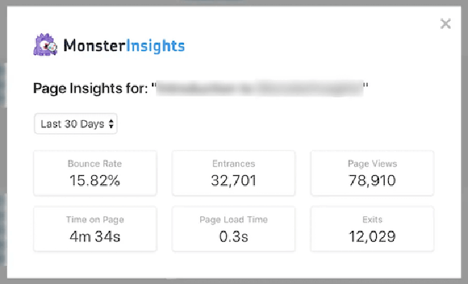 View your page insights data