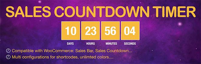 Sales countdown timer plugin