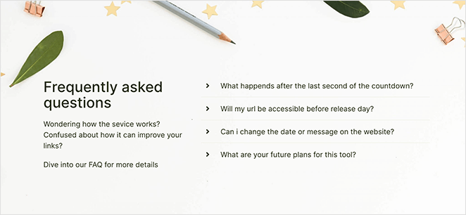 SeedProd custom FAQ section