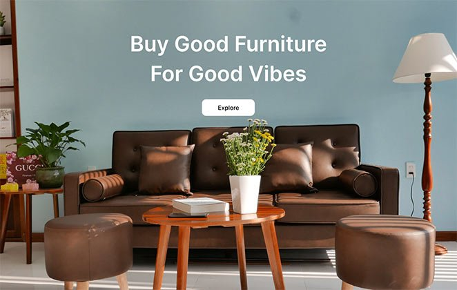 Furniture hero section template
