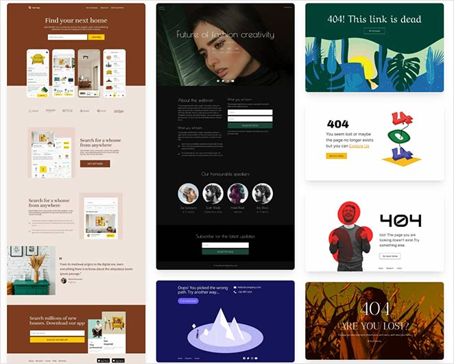 New SeedProd landing page templates