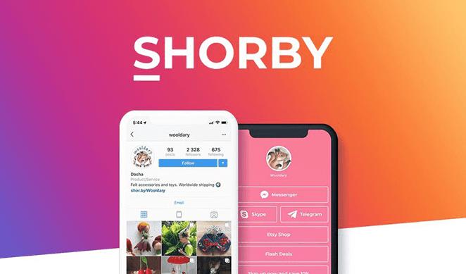 Shorby link in bio Instagram tool