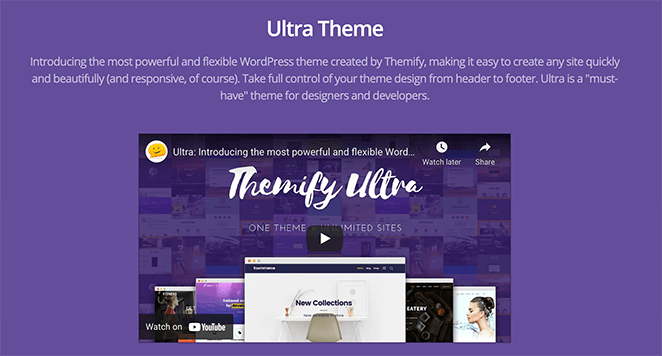 Ultra multipurpose WordPress theme