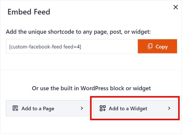 Add your facebook events calendar as a widget