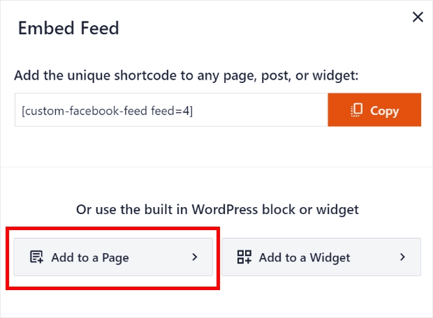 Click the add to a page button