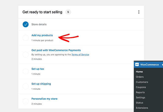 Add new woocommerce products to your store