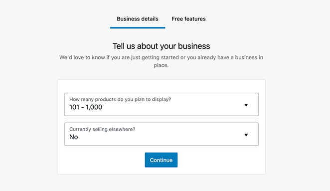 Enter your business details