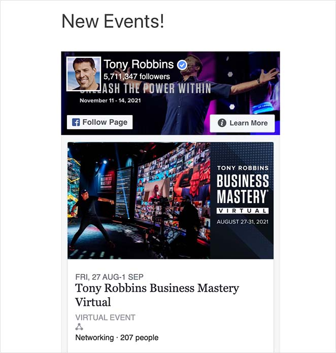 Example of emebed Facebook events on WordPress without a plugin