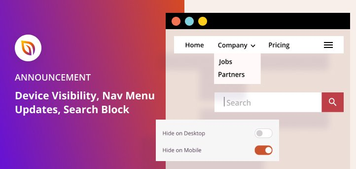 [Announcement] Device Visibility, Updated Nav Menus + Search Forms