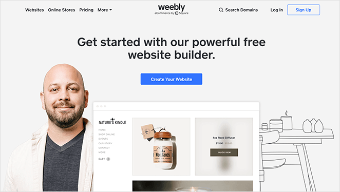 Weebly one page website builder