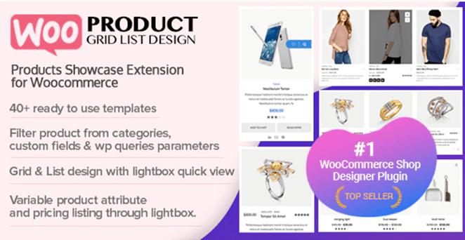 Woo Product Grid/List Design woocommerce grid plugin