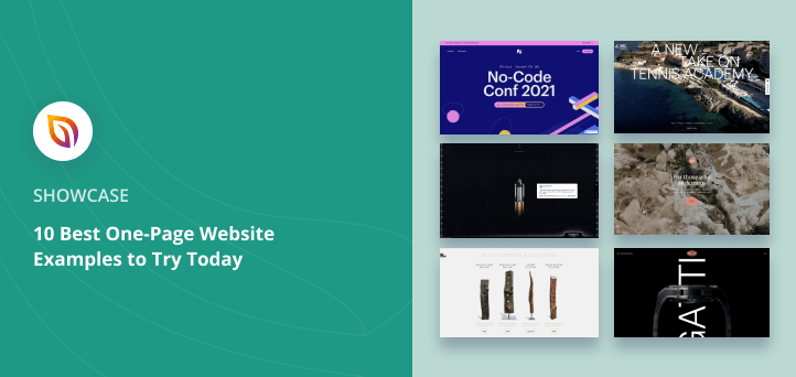 10 Best One Page Website Examples to Try Today
