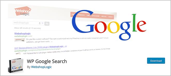 WP Google Search Plugin