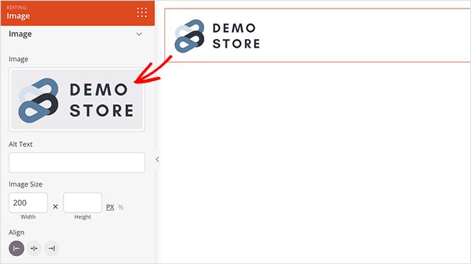 customize woocommerce cart page logo