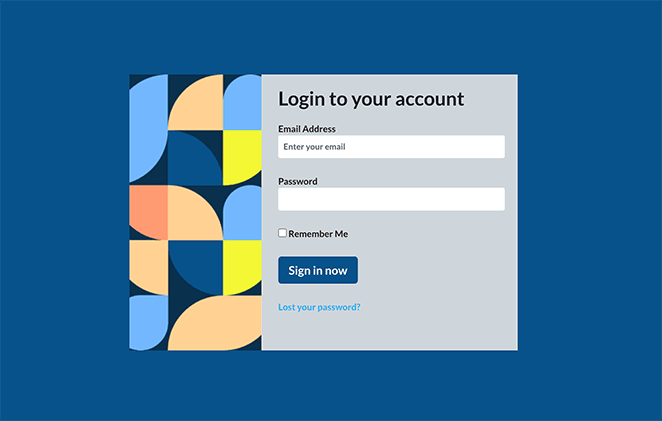 Geo boxed compact login page template