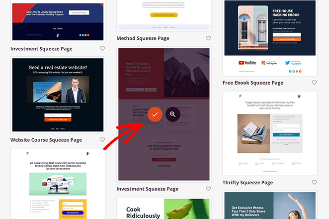 Choose a gated content landing page template